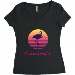 flamingle Women's Triblend Scoop T-shirt | Artistshot