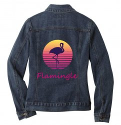 flamingle Ladies Denim Jacket | Artistshot