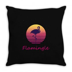 flamingle Throw Pillow | Artistshot