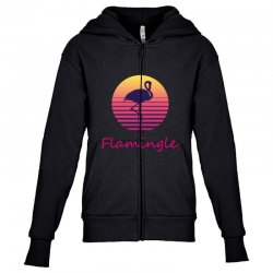 flamingle Youth Zipper Hoodie | Artistshot