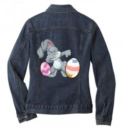 easter day bunny Ladies Denim Jacket | Artistshot