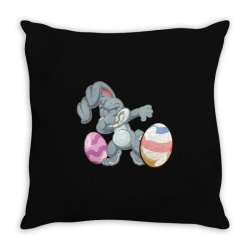 easter day bunny Throw Pillow | Artistshot