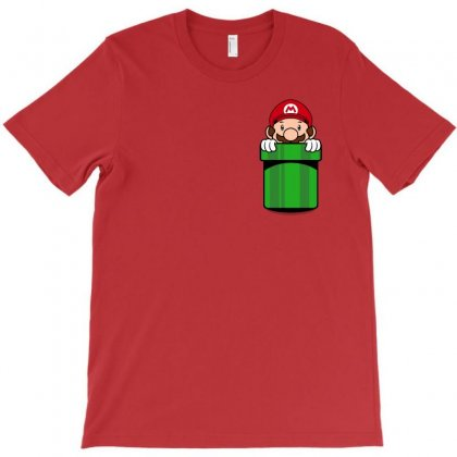 Mario Pocket T-shirt Designed By Toweroflandrose