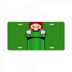 mario pocket License Plate | Artistshot
