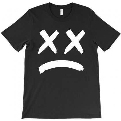 Lil Peep Sad Face T-shirt Designed By Toweroflandrose