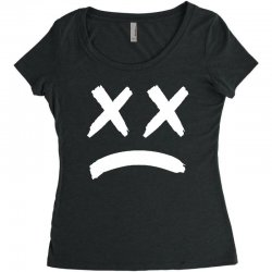 lil peep sad face Women's Triblend Scoop T-shirt | Artistshot