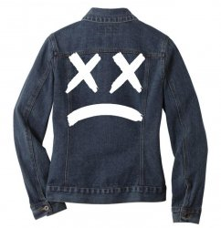 lil peep sad face Ladies Denim Jacket | Artistshot