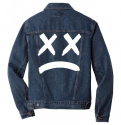 lil peep sad face Men Denim Jacket | Artistshot