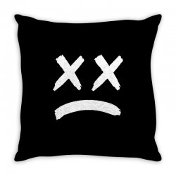 lil peep sad face Throw Pillow | Artistshot