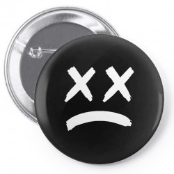 lil peep sad face Pin-back button | Artistshot
