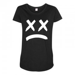 lil peep sad face Maternity Scoop Neck T-shirt | Artistshot