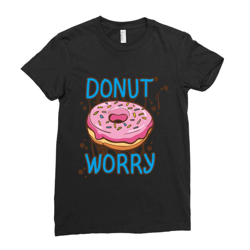Donut Worry Ladies Fitted T-shirt | Artistshot