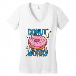 donut worry Women's V-Neck T-Shirt | Artistshot