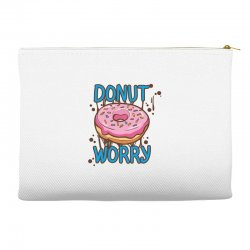 donut worry Accessory Pouches | Artistshot