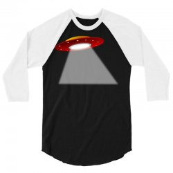 ufo flying saucer flying disc alien 3/4 Sleeve Shirt | Artistshot