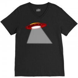 ufo flying saucer flying disc alien V-Neck Tee | Artistshot