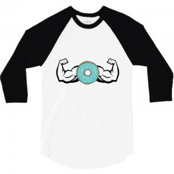 donuts strong 3/4 Sleeve Shirt | Artistshot