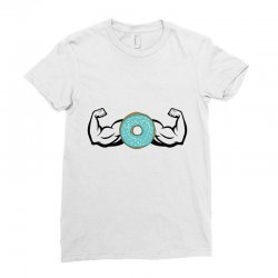 donuts strong Ladies Fitted T-Shirt | Artistshot