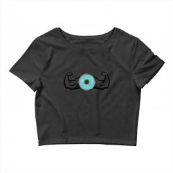 donuts strong Crop Top | Artistshot