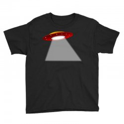 ufo flying saucer flying disc alien Youth Tee | Artistshot