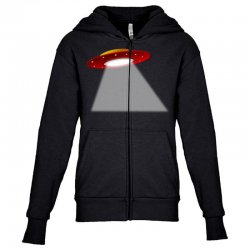 ufo flying saucer flying disc alien Youth Zipper Hoodie | Artistshot