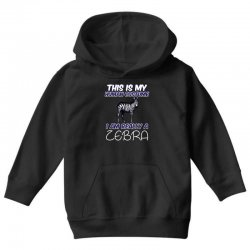 this is my human costume i'm really a zebra Youth Hoodie | Artistshot