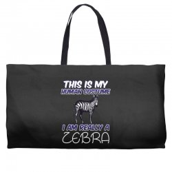 this is my human costume i'm really a zebra Weekender Totes | Artistshot