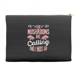 the mushrooms are calling and i must go Accessory Pouches | Artistshot