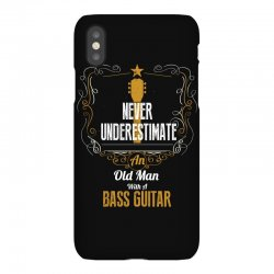 never underestimate an old man with a bass guitar iPhoneX Case | Artistshot