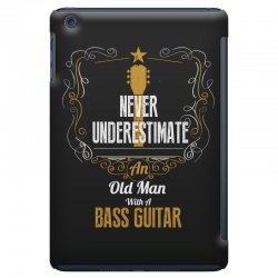 never underestimate an old man with a bass guitar iPad Mini Case | Artistshot