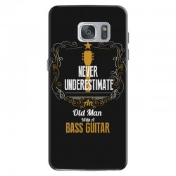never underestimate an old man with a bass guitar Samsung Galaxy S7 Case | Artistshot