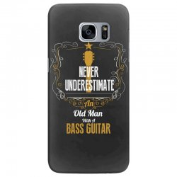 never underestimate an old man with a bass guitar Samsung Galaxy S7 Edge Case | Artistshot