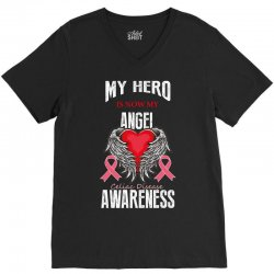 my hero is now my angel celiac disease awareness V-Neck Tee | Artistshot