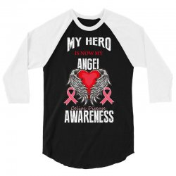 my hero is now my angel celiac disease awareness 3/4 Sleeve Shirt | Artistshot