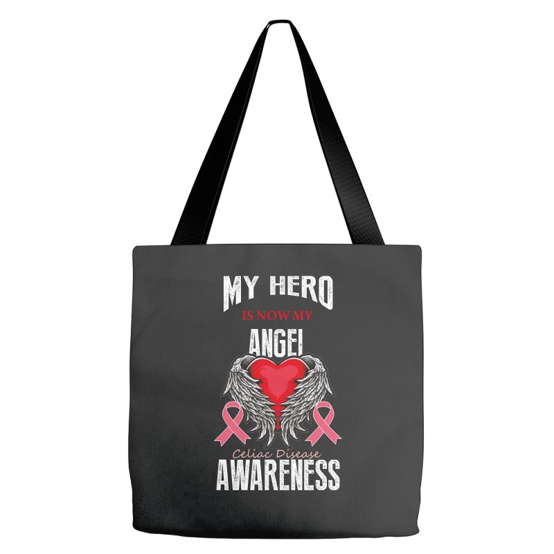 My Hero Is Now My Angel Celiac Disease Awareness Tote Bags | Artistshot
