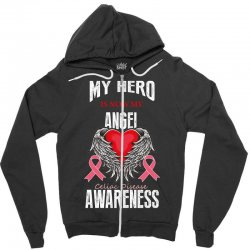 my hero is now my angel celiac disease awareness Zipper Hoodie | Artistshot