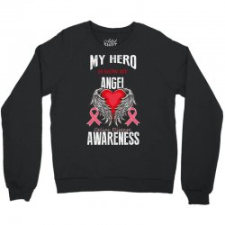 my hero is now my angel celiac disease awareness Crewneck Sweatshirt | Artistshot