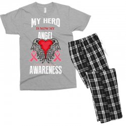 my hero is now my angel celiac disease awareness Men's T-shirt Pajama Set | Artistshot