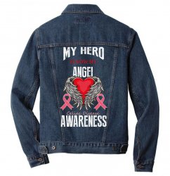my hero is now my angel celiac disease awareness Men Denim Jacket | Artistshot