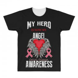 my hero is now my angel celiac disease awareness All Over Men's T-shirt | Artistshot