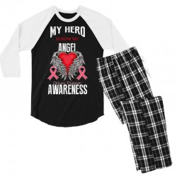 my hero is now my angel celiac disease awareness Men's 3/4 Sleeve Pajama Set | Artistshot