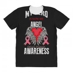 my hero is now my angel celiac disease awareness All Over Women's T-shirt | Artistshot