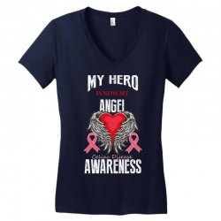 my hero is now my angel celiac disease awareness Women's V-Neck T-Shirt | Artistshot