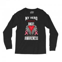 my hero is now my angel celiac disease awareness Long Sleeve Shirts | Artistshot