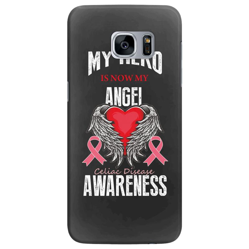 My Hero Is Now My Angel Celiac Disease Awareness Samsung Galaxy S7 Edge Case | Artistshot