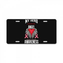 my hero is now my angel celiac disease awareness License Plate | Artistshot