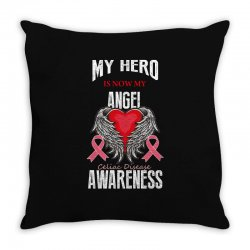 my hero is now my angel celiac disease awareness Throw Pillow | Artistshot