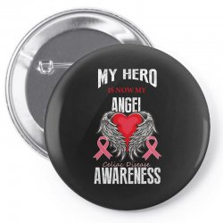 my hero is now my angel celiac disease awareness Pin-back button | Artistshot