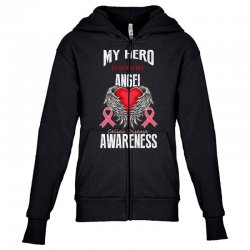 my hero is now my angel celiac disease awareness Youth Zipper Hoodie | Artistshot