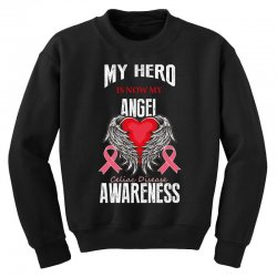 my hero is now my angel celiac disease awareness Youth Sweatshirt | Artistshot